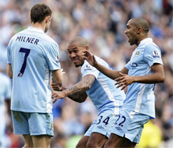 Man City go top after routing Aston Villa 4-1