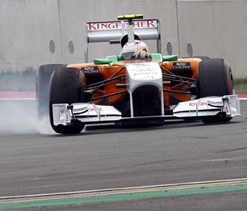 Resta gets one point for Force India from Korean GP