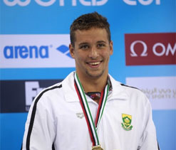 dubai south africa s chad le clos became the star of the fina arena ...