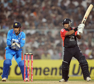 England end India's tour on  a positive note