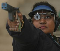 Anisa pips Rahi, Annuraj for Sports Pistol gold