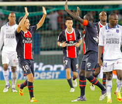 PSG back to winning ways with 3-2 win over Auxerre