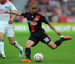 Two-goal Sam plays it again to put Leverkusen top