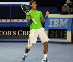 Nadal overhauls Berdych to set up Federer semi-final