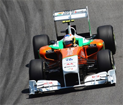 Force India's Paul Di Resta hopeful of podium finish in 2012