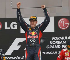 Red Bull's Sebastian Vettel wins Korean Grand Prix