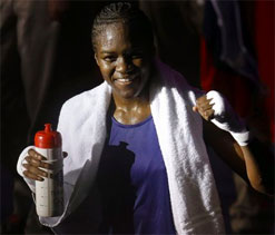 Britain`s Olympic boxing champion Adams wins writers` award
