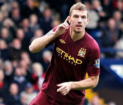 Dzeko saves Manchester City with dramatic double to beat West Brom