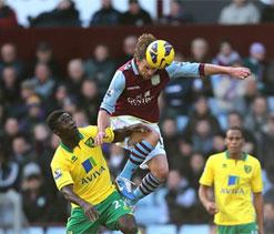 Aston Villa 1-1 Norwich City: Turner piles the pressure on struggling Lambert
