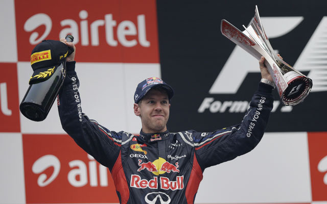 Sebastian Vettel wins Indian GP again; Force India gets 4 points