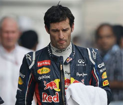 Webber walks out of press conference