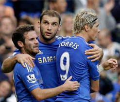 EPL 2012: Torres and Hazard on target as Chelsea go four points clear