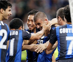 AC Milan 0-1 Inter: Samuel header secures derby spoils for 10-man Nerazzurri