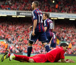 Rodgers leaps to Suarez's defence after 'vilification' over diving antics