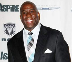 NBA legend Magic Johnson is a fan of Lionel Messi