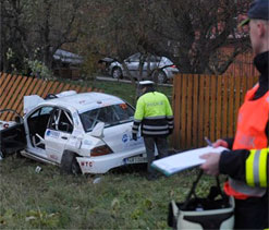 Race car kills four at Czech rally