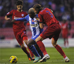 West Brom beat Wigan 2-1 in EPL
