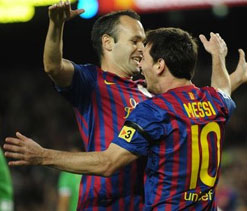Iniesta says Messi worlds' best not only for goals but general game