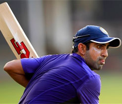 Gambhir not on field as play starts on day 5