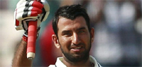 India vs England 2012, 2nd Test: Cheteshwar Pujara props up India with second consecutive ton