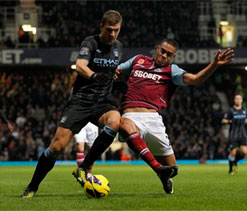 Manchester City frustrated in West Ham stalemate