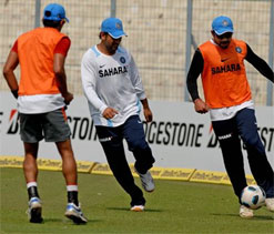India start preparations for England series with light session