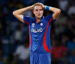 Stuart Broad out of T20's against India