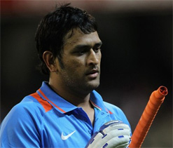 Under fire Dhoni evades questions on captaincy