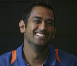 Dhoni happy being a