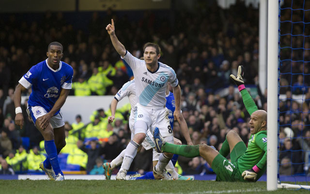 Lampard double seals 2-1 win for Chelsea over Everton