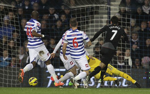 Suarez strikes twice as Liverpool beat QPR 3-0 in EPL