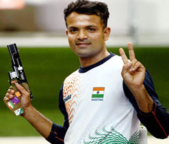 Pistol shooter Vijay Kumar World No.2