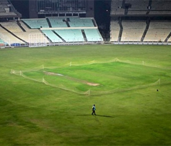 Floodlights used in Test at Eden for first time