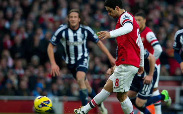 Mikel Arteta double hands Arsenal 2-0 win over West Brom