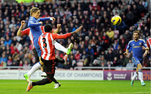 Torres strikes twice in Chelsea's 3-1 win over Sunderland