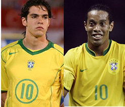 Ronaldinho in Brazil squad, Kaka out