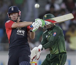 England win after Afridi scare