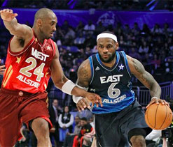Bryant, West hold on to win NBA All-Star game