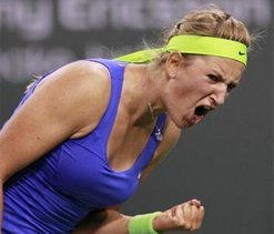 Top seed Azarenka battles through in Indian Wells