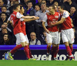 Arsenal beats Everton 1-0 to move up to 3rd in EPL
