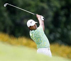 Lahiri leads by one after tough opening day