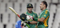 South Africa win by 11 runs (D/L) in the one-off T20