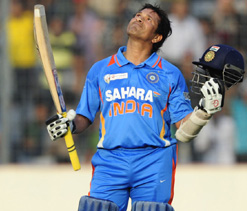 Tendulkar to be showered with 100 gold coins for 100 tons