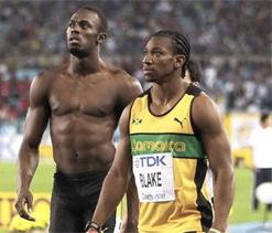 Who is best, Bolt or Blake? Coach will not say