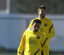 Xavi, Pique to miss Barca`s Liga game at Rayo