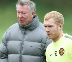 Ferguson pays tribute to veteran Man U midfielder Scholes