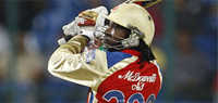 Gayle powers RCB to 35-run win, go third in standings