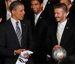 Obama pokes fun at Beckham over his underwear line