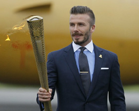 Olympic flame arrives in Britain