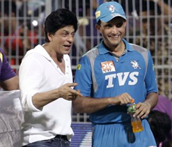 Ganguly, SRK exchange pleasantries after `Battle Royale`